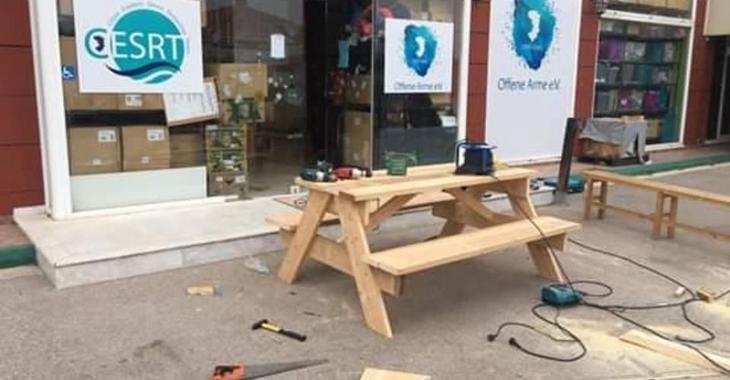 Stupendous Benches For Vial Chios Eastern Shore Response Team Frankydiablos Diy Chair Ideas Frankydiabloscom